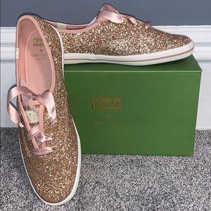 BRAND NEW Kate Spade Pink Sparkle Keds